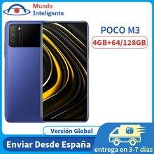 POCO M3 – téléphone portable Version globale, 4 go 64 go/128 go, Snapdragon 662 Octa Core, 6000mAh, écran DotDrop de 6.53 pouces, Triple caméra 48mp