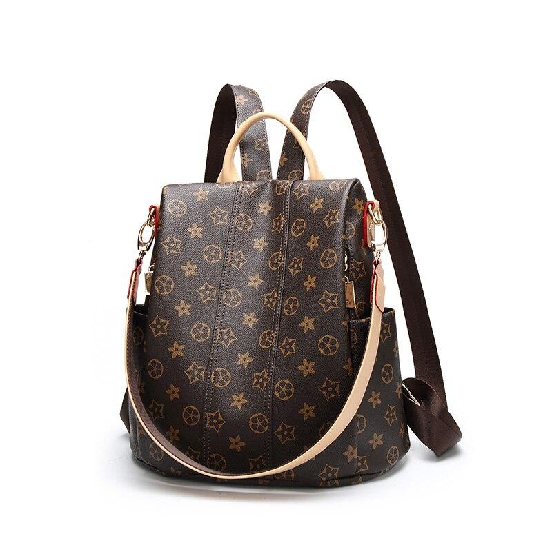 Female Backpack Travel Backpack School Bag High Quality Pu Leather Women Backpack Computer Bag Shoulder Bag Multifunctional Bag