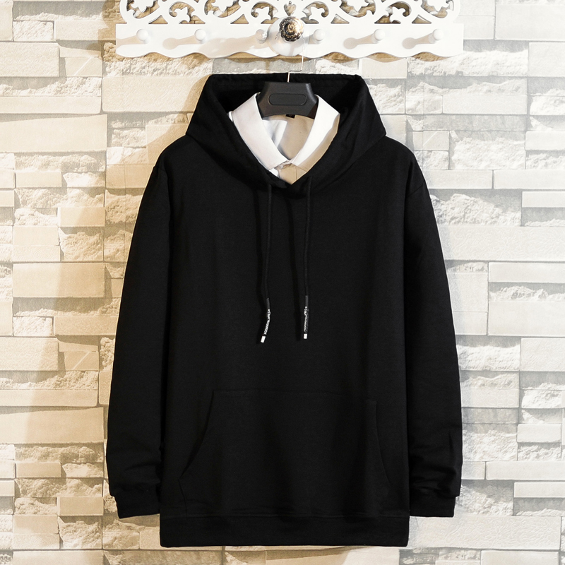 Classic Hoodie Sweatshirt Mens Hip Hop Pullover Hoodies Streetwear Casual Fashion Clothes Autumn 2019 Plus Size 5XL 6XL 7XL 8XL