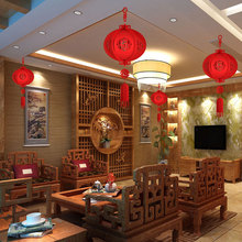 Китайский подвесной фонарь с наилучшими пожеланиями, фонарь на удачу, китайский красный фонарь из нетканого материала в сборе, 3D украшение на удачу