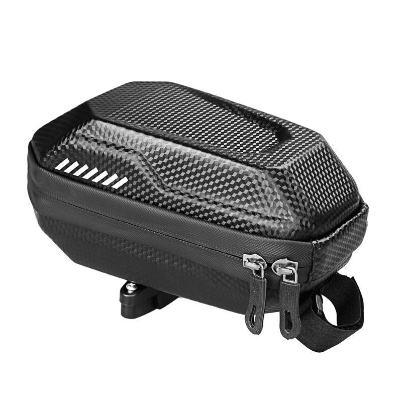Waterproof Mountain Bike Bag High-Capacity Bike Tail Pack Carbon Pattern EVA
