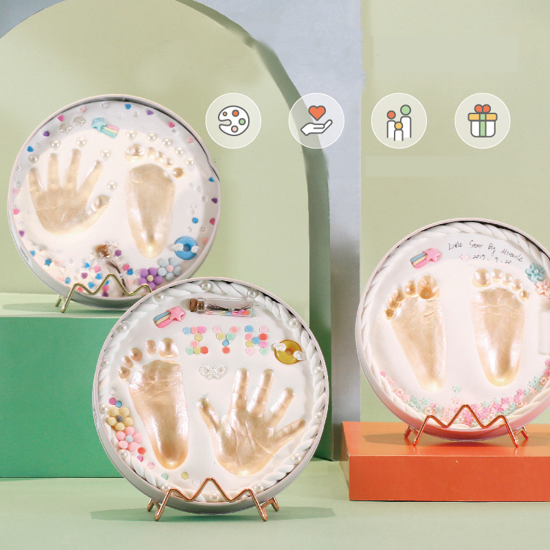 Fashion Baby Footprint Newborn Souvenir Baby Care Air Drying Soft Clay DIY Babies Hand Foot Imprint Baby Gift Baby Photo Frame