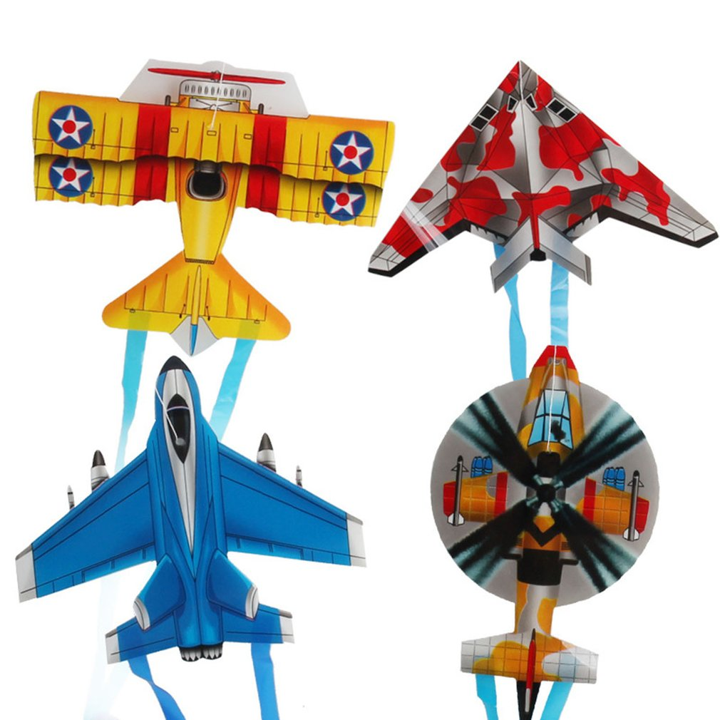 Portable Children Outdoor Parent-child Interactive Toy Cartoon Airplane Butterfly Insect Mini Kite image