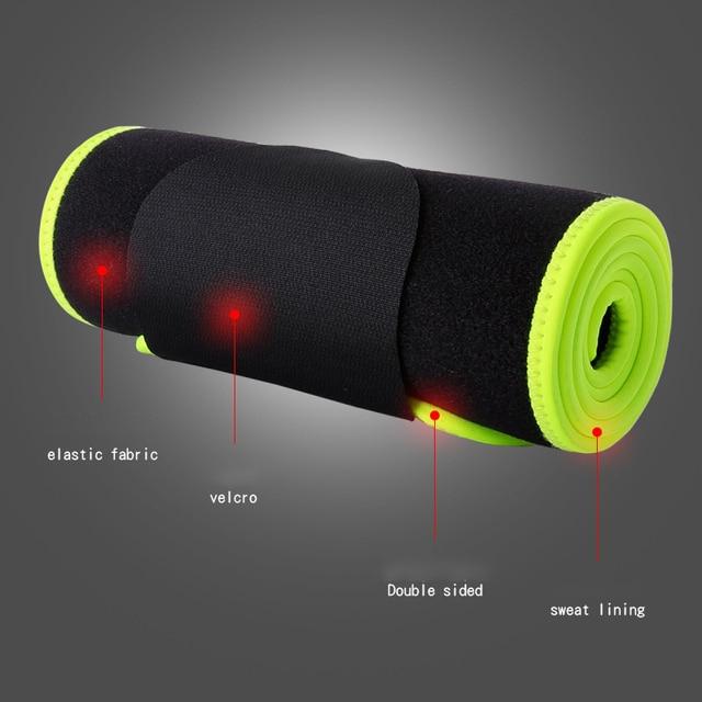 Adjustable Elastic Waist Support Belt Lumbar Back Sweat Belt Fitness Weightlifting Sports Waist Trainer Safety For Women Men 3