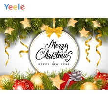 Yeele Christmas Photocall Garlands Decor Pine Ball Photography Backdrops Personalized Photographic Backgrounds For Photo Studio