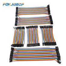 Dupont lin cabos conectores, linha de dupont de 10cm 20cm macho para macho + fêmea para macho + fêmea para fêmea cabo conector para arduino kit diy