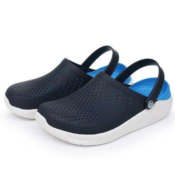 Sandalias de verano para deportes de playa para mujer 2020, zapatillas de deslizamiento para hombre y mujer, zuecos Croc para mujer