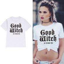 witch graphic tees women halloween print pumpkin plus size shirt vintage girls 2019 christmas shirts korean punk 90s