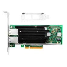 Высокопроизводительная Внешняя вспышка NIC с чипсетом Intel X540 10Gbs, медный двойной порт RJ45 PCIe2.0 X8