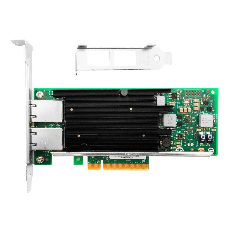 X540-T2 NIC haute Performance avec jeu de puces Intel X540 10Gbs, Dualport RJ45 en cuivre,