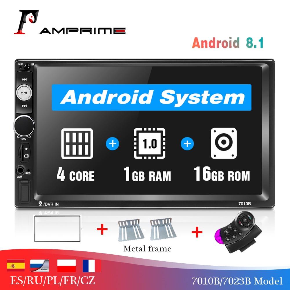AMPrime 2 Din 7 coche reproductor Multimedia Universal pantalla táctil Bluetooth MP5 jugador Autoradio TF USB FM Radio de coche reproductor de medios