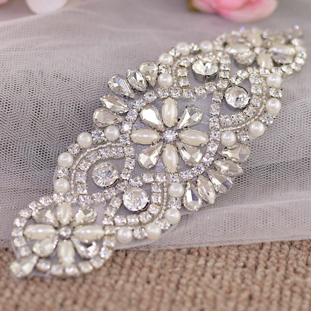 TRiXY S76 Stunning Wedding belt rhinestone belt Wedding Sash Belts Crystals Rhinestone belt Silver Diamond Belt Bridal Sashes