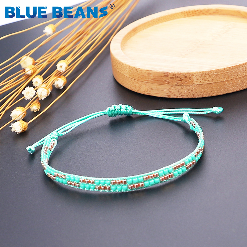 2020 Bohemian Bracelets Women Beads Bracelet Red Bracelet Crystal Boho Rope Bracelet Girls Friendship Rainbow Adjustable Gifts