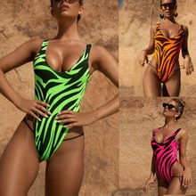 Women Swimwear One Pieces Swimsuits Bathing Swimming Bench Suits Flame Printing Bikini Sexy Bandage Backless