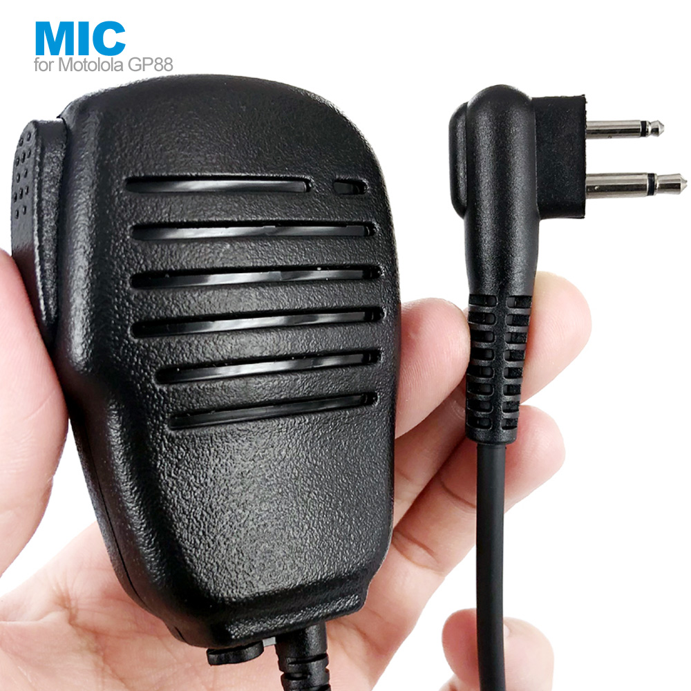 2 Pin Portable Microphone Speaker MIC For MOTOROLA Radio EP450 GP300 GP88s GP2000 GP68 GP88 CP150 Walkie Talkie
