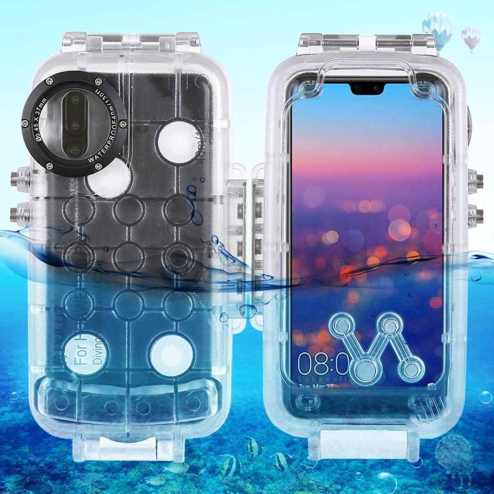 Caisson étanche de plongée pour Huawei Mate 20 Pro 40 m/130ft couverture de natation sous-marine pour Huawei P20 pro caméra Photo