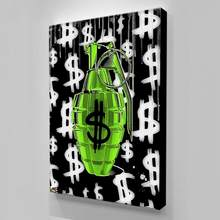 Modular impresiones de alta definición fotos abstracto pinturas dinero a casa decoración Cartel de la lona pared arte para la sala de Cuadros sin marco