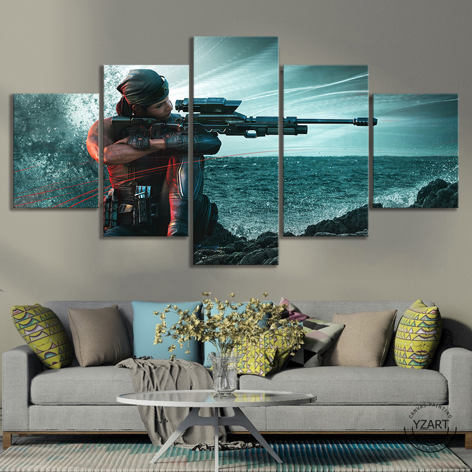 Rainbow Six Siege Operation Shifting Tides Female Sniper Game Character Poster HD Wall Picture Canvas Paintings for Home Decor 2