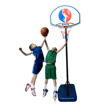 Kids Portable Basketball Stand (Rim Height 1.5-1.8m) Maxium Applicable Ball Model 5# Blue & Black & White