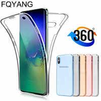 360 cubierta del TPU para Samsung Galaxy Nota 10 PLUS NOTE10 A50 A70 A30 A40 A20 A20E A10 M10 S10 NOTE9 A9 J4 J6 J8 2018 Coque