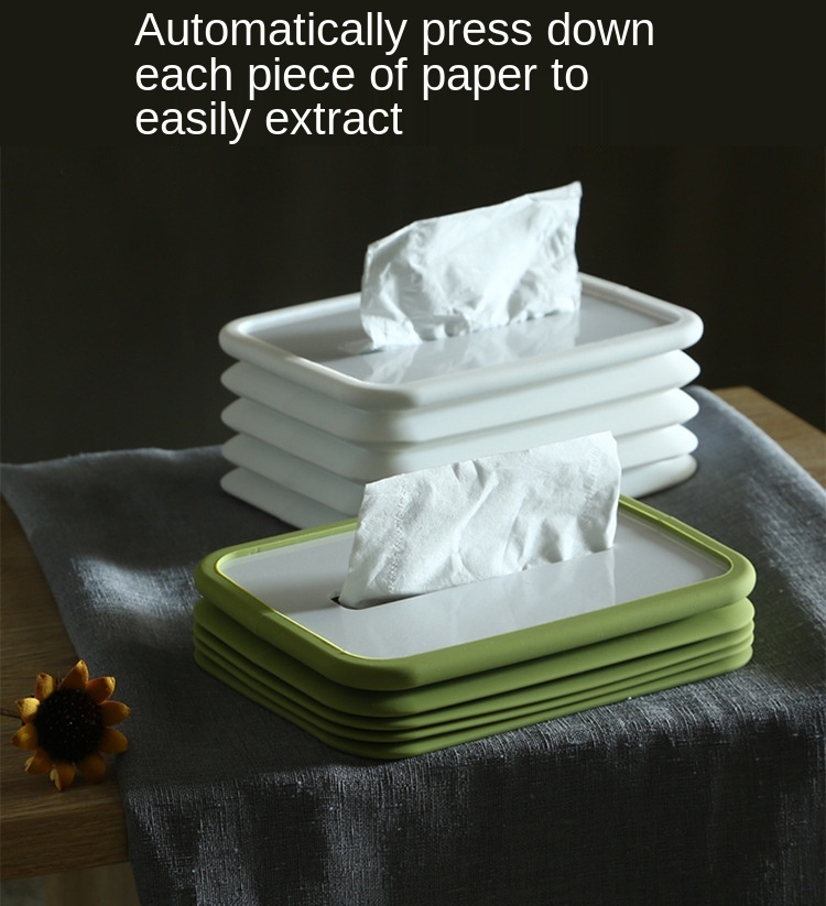 Silicone Foldable Tissue Box Holder