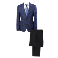 New Arrival Jacquard Men Suit Set Two Pieces Jacket Pants England Style Slim Wedding Suits Men'