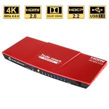 KVM переключатель kvm HDMI USB2.0 4-портовый переключатель KVM переключатель HDMI до 4K@ 60Hz управление 4 шт. Поддержка Unix/Windows/Debian дополнительный USB2.0