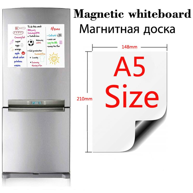 1Pcs A5 Magnetic Whiteboard Dry Erase White Board Fridge Stickers Presentation School Office Kitchen Message Boards