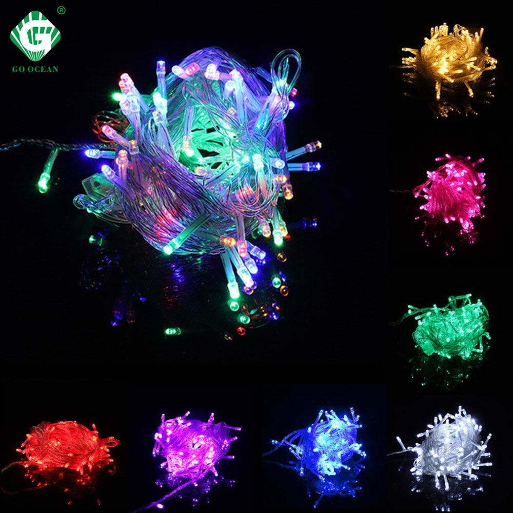10M 20M 30M 50M 100M 110V 220V String Light Holiday Garland Wedding Party Christmas Lights New Year Decoration