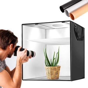 Softbox Tent Background Lighting-Box Shooting-Tent Studio Photography Portable 3-Colors