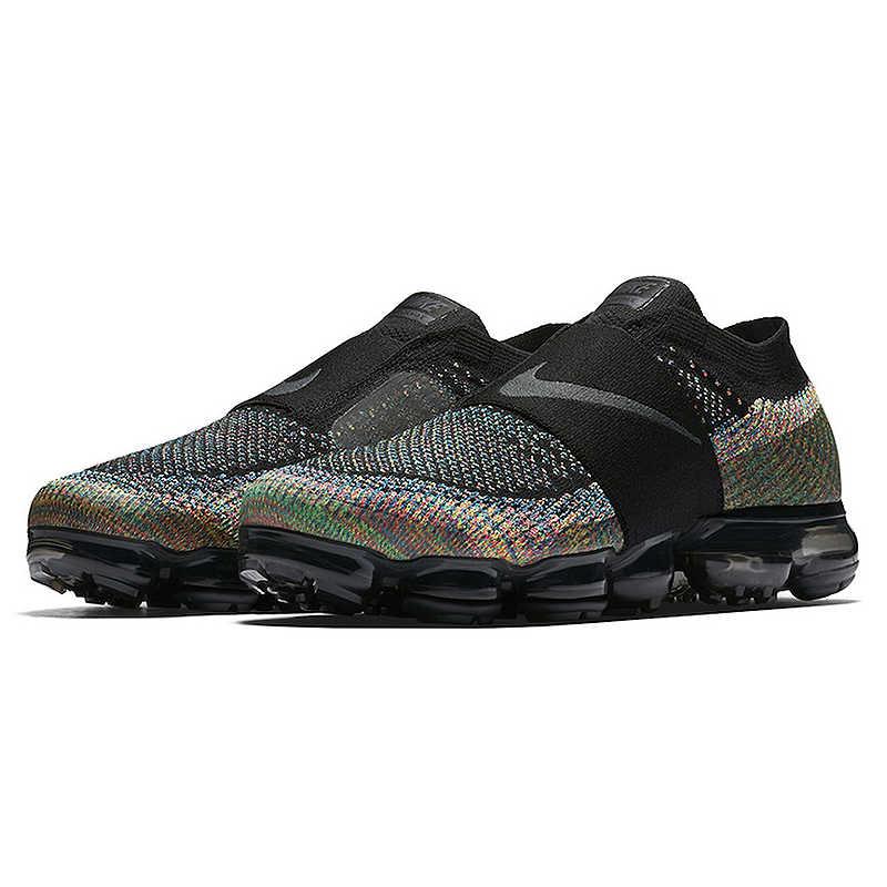 Оригинальный Nike Оригинальные кроссовки Air VaporMax мс Радужная подушечка Для мужчин бега обувь спортивная, кроссовки для улицы, дышащие прочные AH3397