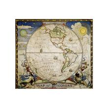Medieval Style Decorative Map 90x90cm Simple Non-woven No-fading World For Kids and Children