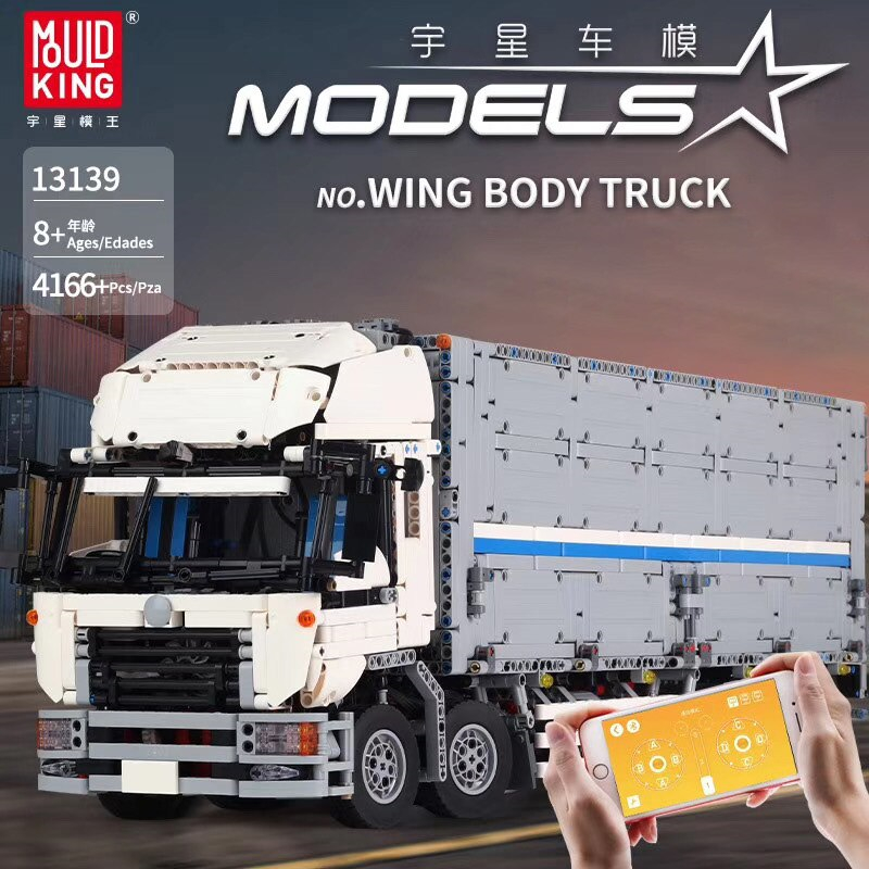 Mould King 13139 4166Pcs Technic Car Toys The MOC-1389 Wing Body Truck Building Blocks Bricks Car Model Kid Christmas Gift 23008