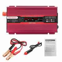 Onduleur 2000W DC 12 V/24 V à AC 220 V/110 V transformateur de tension modifié onde sinusoïdale onduleur solaire modifié Smart LCD affichage