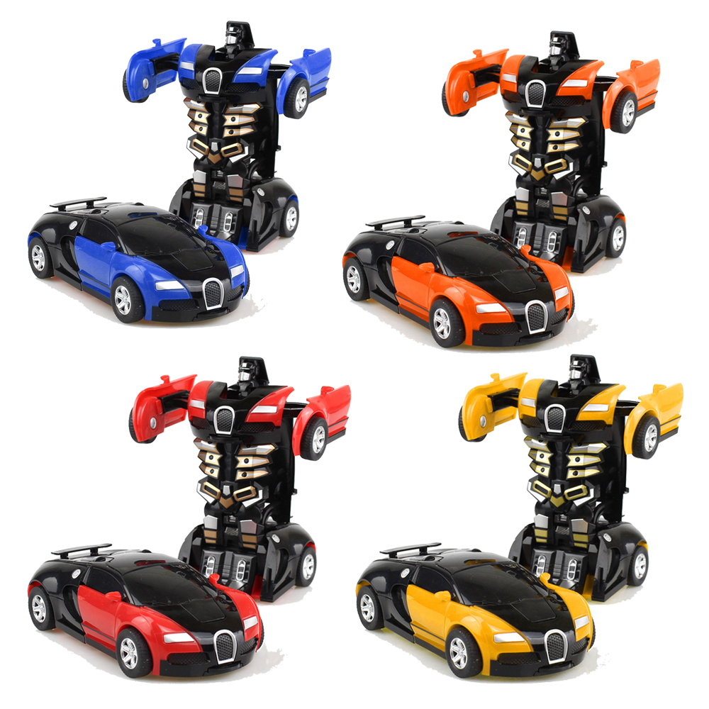 One-key Deformation Car Toys New Arrival Mini Automatic Transform Robot Plastic Model Car Funny Toys For Boys Amazing Gifts Kids
