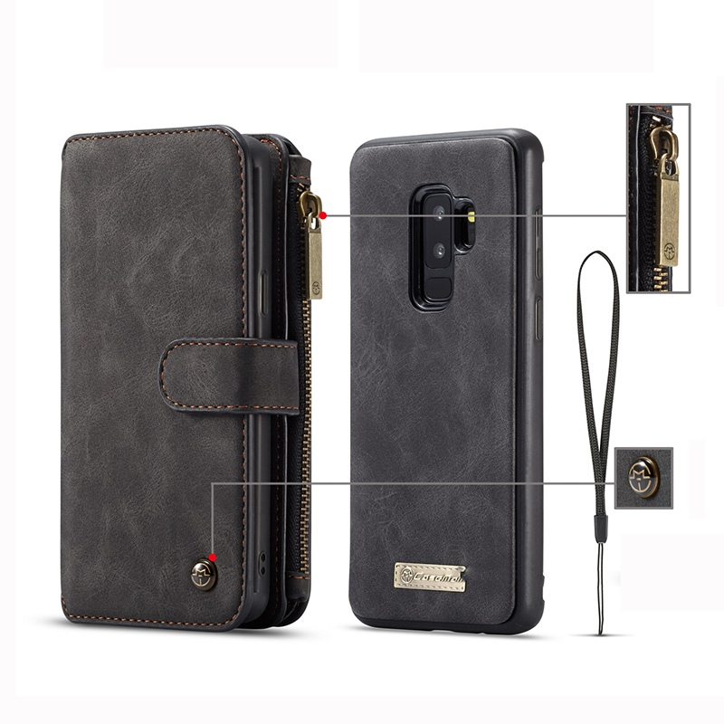 Luxury Leather Flip Wallet Case for iPhone X XS XR Case Hoesje Phone Cover Funda for