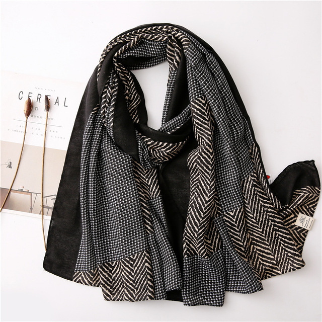 New 2020 desigual cotton Women Print Scarf Bandana Hijab Foulard Scarves cachecol pashmina long poncho femme shawl bandanas 1