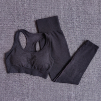 BraPantsBlack - Women Seamless Yoga Set Fitness Sports Suits