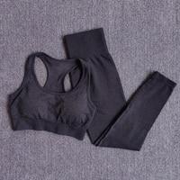 BraPantsBlack - Women Seamless Yoga Set Fitness Sports Suits