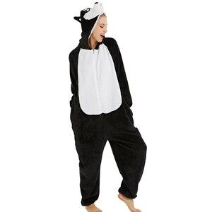 Image 4 - 26 ใหม่ผู้หญิงชุดนอน Flannel สัตว์ชุดนอนยูนิคอร์นคอสเพลย์ผู้หญิงฤดูหนาว panda Nightie ชุดนอน hooded Homewear