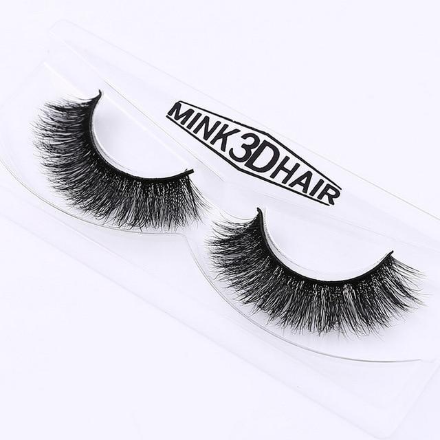 ใหม่ DOCOCER Mink Lashes 3D Mink ขนตาปลอมขนตายาวขนตาธรรมชาติและน้ำหนักเบาขนตาปลอม 1 คู่บรรจุภัณฑ์