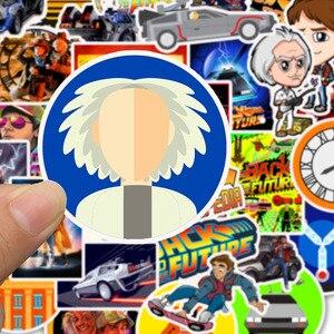 Image 3 - 50Pcs סרט בחזרה לעתיד מדבקות חבילה עבור על מחשב נייד מקרר טלפון סקייטבורד נסיעות מזוודה מדבקה