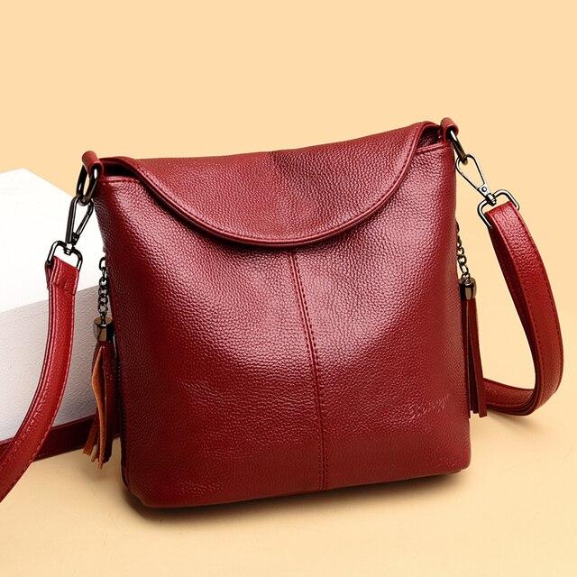 Soft Leather Crossbody Bags for Women 2020 Luxury Handbags Women Bags Designer Female Casual Hand Shoulder Bag bolsos de mujer 3