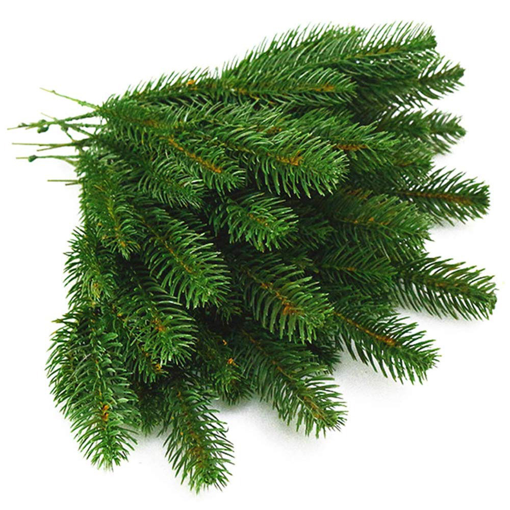 10 Pcs Artificial Plants Pine Branches Christmas Tree Accessories DIY Artificial Flowers  New Year Decorations Xmas Ornaments