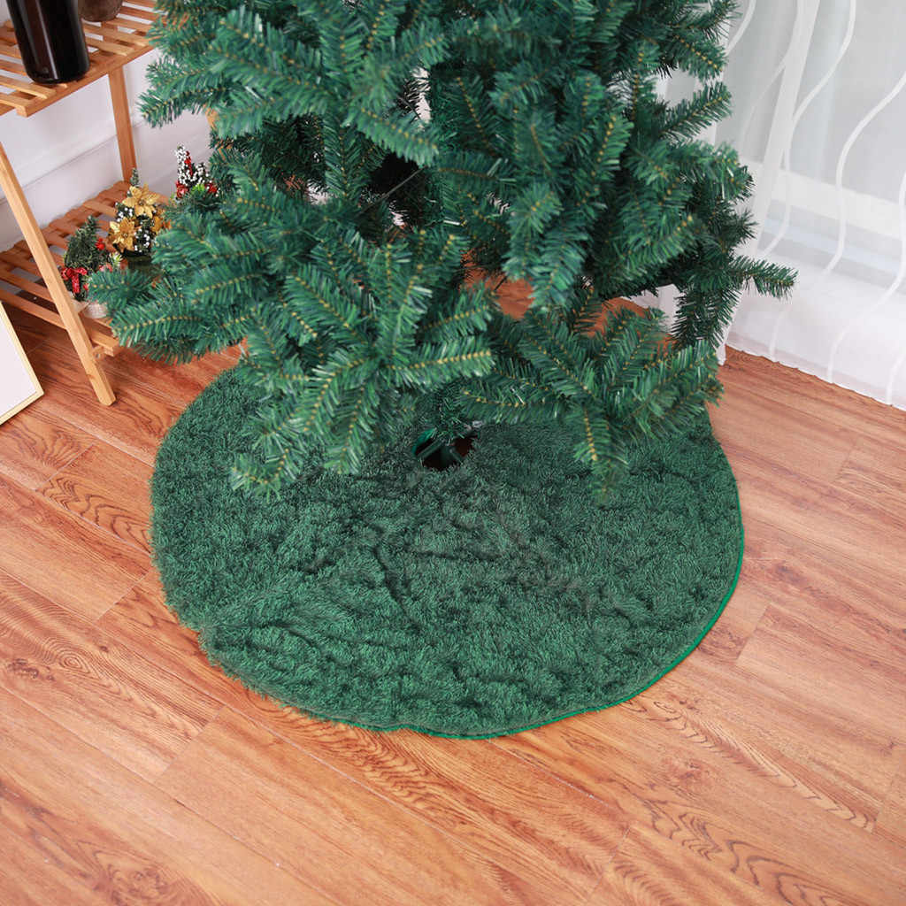 Christmas Tree Skirt Floor Mat Aprons Round Carpet Xmas Home Party Decorations christmas decoration for home ornament орнамент