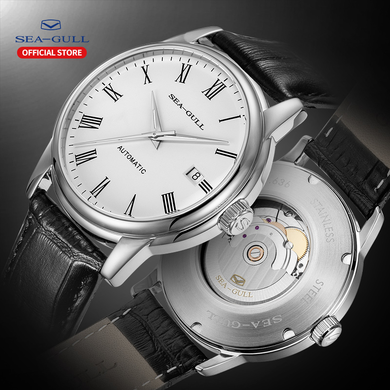 Seagull Men's Watch Fashion Business Automatic Mechanical Leather Valentine's Day Men's And Women's Watches D819.636