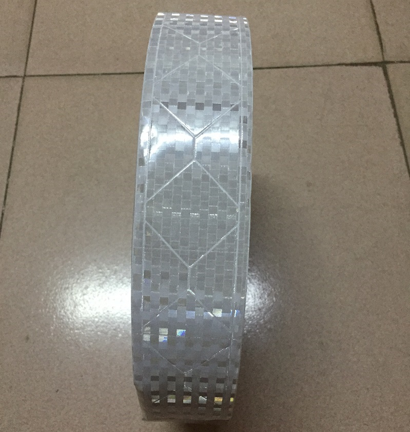 5CM Wide  Diamond Model Square Flashing Warning Reflective PVC Tape For The Clothing