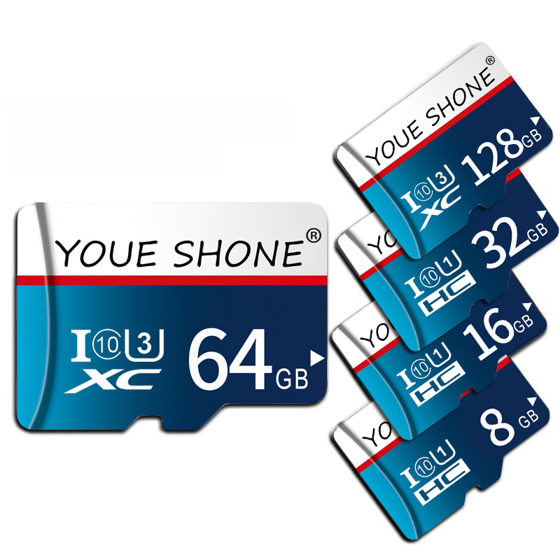 New Brand Memory Card 64GB 128GB SDXC Micro Sd Card 32GB SDHC Class 10 TF Card Pendrive 16GB 8GB Microsd Card With Package
