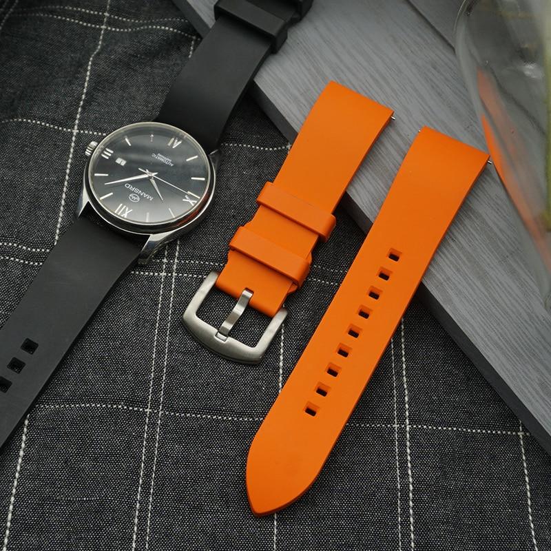 Ремешок для часов из флюорубра премиум-класса, быстросъемный браслет для каждого бренда, аксессуары для часов, 20 мм 22 24 мм