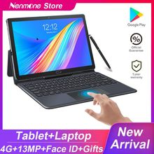 2021 Upgraded Android 10.5 Inch 2IN1 Tablet PC Deca Core 1920*1200 Screen 13.0MP Dual 4G Phone Tablet With Keyboard GPS Gaming